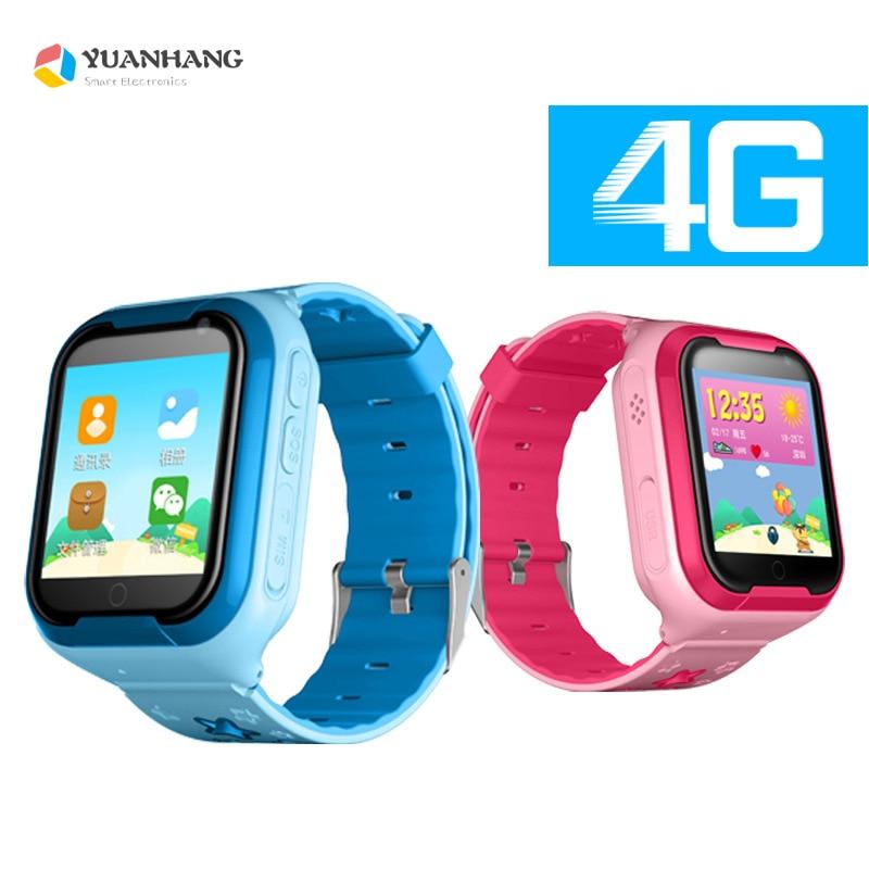 Smart 4g WCDMA Caméra À Distance GPS WI-FI 1.54 Écran Tactile Enfants Enfant Étudiant Montre-Bracelet SOS Appel Moniteur Tracker Emplacement montre