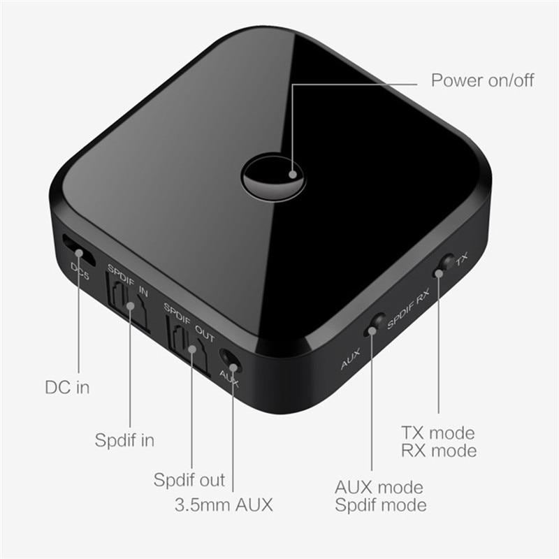 Adaptateur Bluetooth transmetteur Bluetooth récepteur adaptateur Aptx HD adaptateur émetteur optique récepteur 2 en 1 pour haut-parleur TV voiture - 3