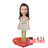 2018 Special DIY gift wedding cake topper Personalized Custom Polymer Clay doll From Pictures Christmas Gift Pre sale