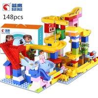 0307 Slider track ball Large grained children's building blocks teach education building blocks toy gift set
