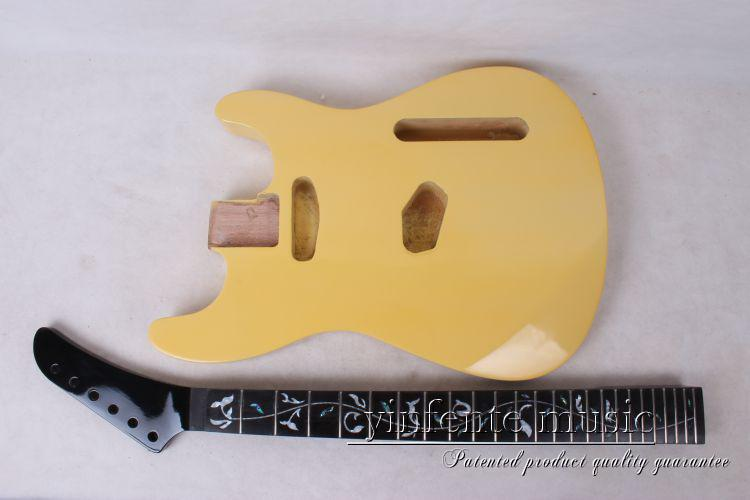one set   electric guitar neck and body  high quality     mahogany made   and rose wood    fingerboard kiddieland набор музыкальных инструментов kiddieland