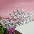 Tiara Crystal Queen Crown Bridal Head Tiaras Hair New Fashion Jewelry Women Crowns Wedding Headband 20's Hair Accessories Female