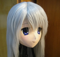 (C2 060) Handmade Silicone Rubber Kigurumi Masks Cosplay Crossdresser Doll Kigrumi Anime Role Play Can Custom Hair/Eyes