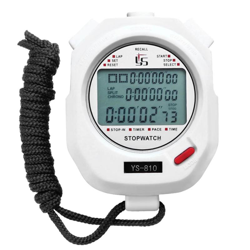 Portable Handheld Timer Digital Stopwatch Multifuction Professional Indoor Outdoor Sports Running Training Timer Stopwatch цена