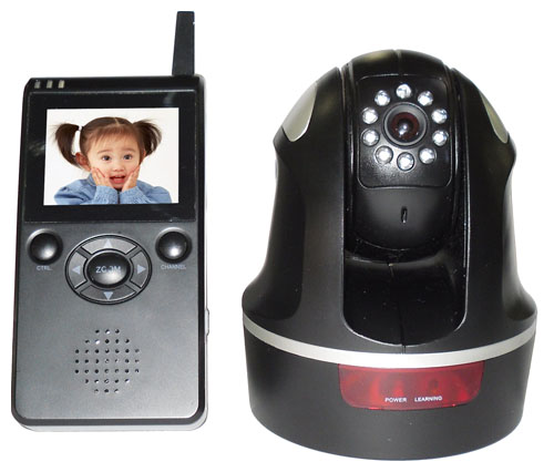 3.5 Inch Wireless 2.4Ghz Camera Pan and Tilt IR Night Vision Portable Baby Monitor