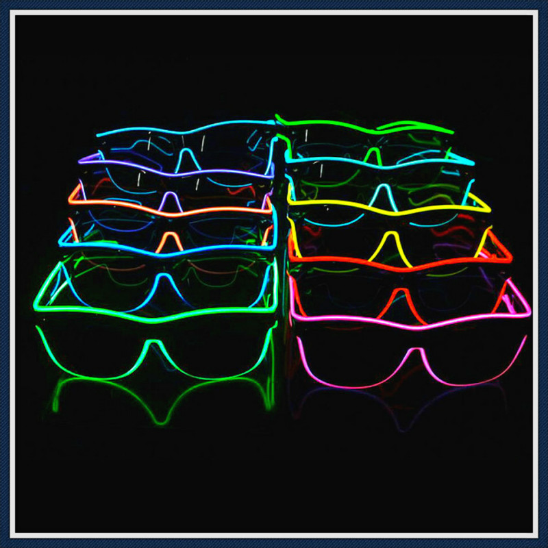Glowing Glasses LED halloween props party makeup Supplies Christmas Halloween Children Gift Glow Mask Halloween Decorations 7ZB