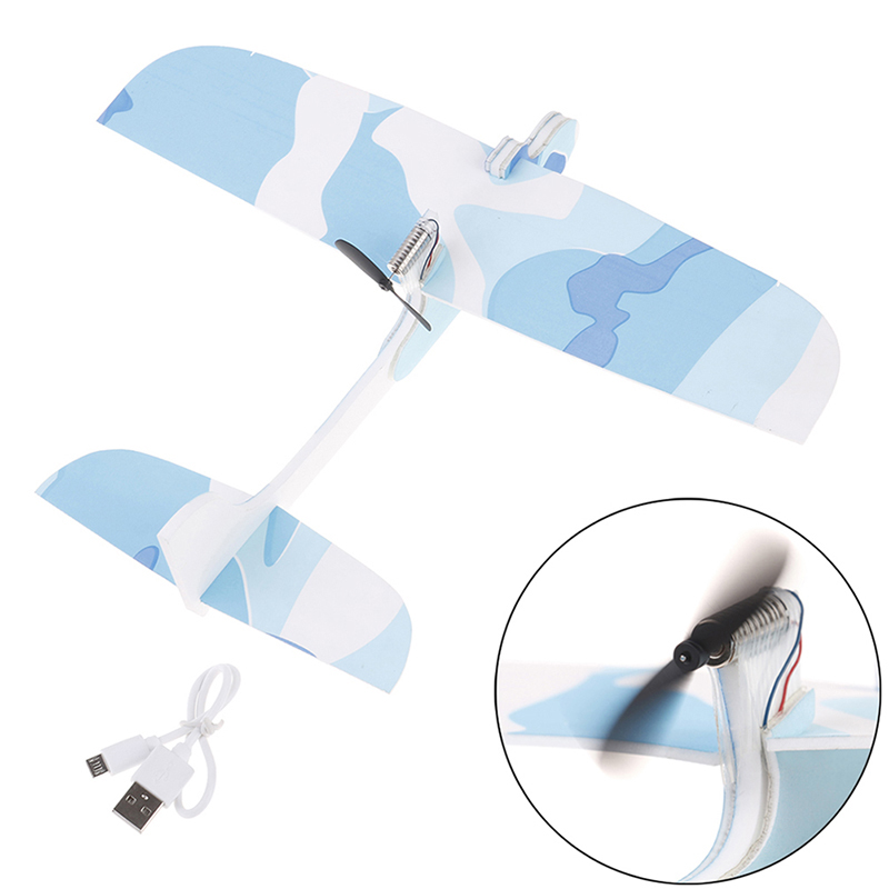 Diy Capacitance Hand Throw Flying Glider Planes Foam Rechargeable Electric Aeroplane Model Party Flying Glider Plane Kids Toys