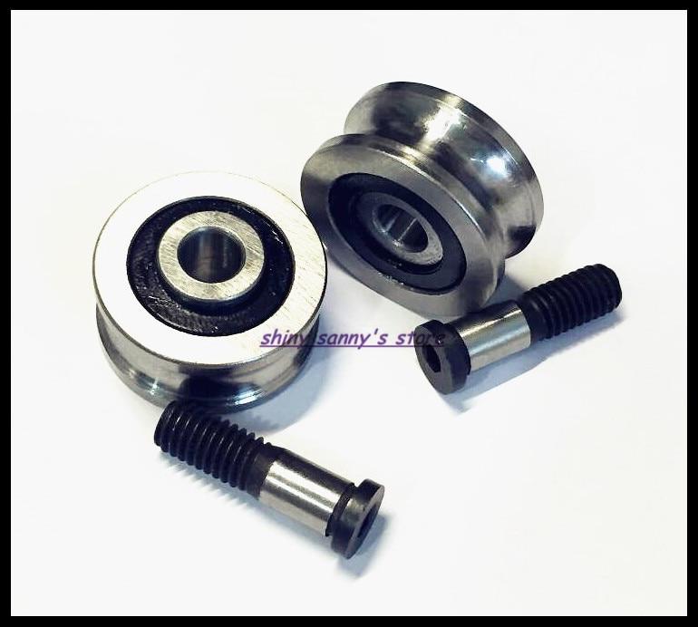 SG15 SG20 SG25 SG66 + M5 M6 M8 Screw Bolts Bearing Steel Pulley Ball Bearings Track Guide Roller Bearing Brand New tv0630 tv0630vv v groove pulley ball bearings 6 30 8 mm track guide roller bearing