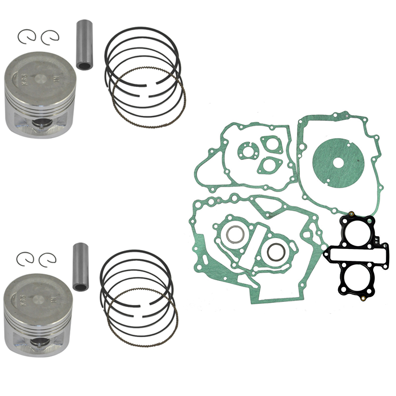 Engine Cylinder Piston Kit Set for Honda CA250 STD Bore Size 53MM Pin Clips Ring Rings New  цены