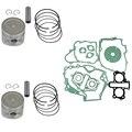 Motor de pistón del cilindro kit set para honda ca250 std tamaño diámetro 53mm pin clips anillo anillos nuevo