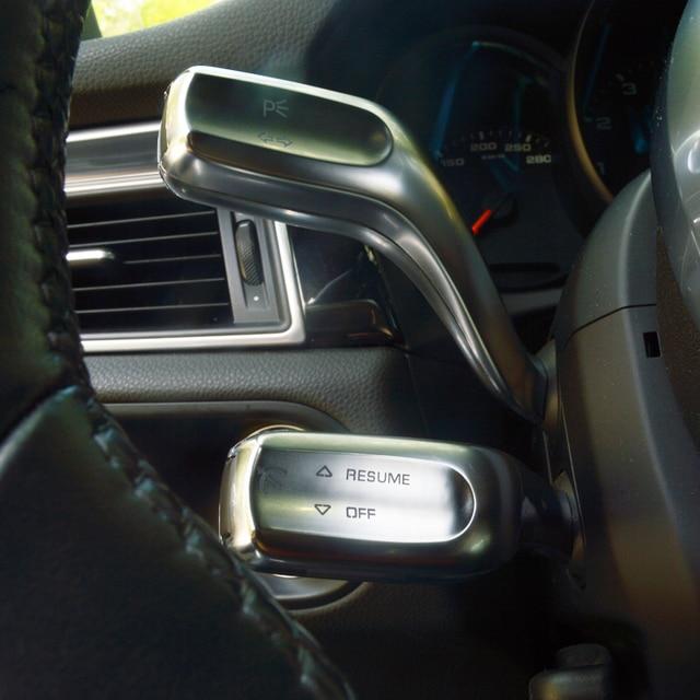 Car Styling Steering Wheel Wiper Lever Rod Sticker Trim For Porsche Macan Cayenne Panamera Interior Accessories 1
