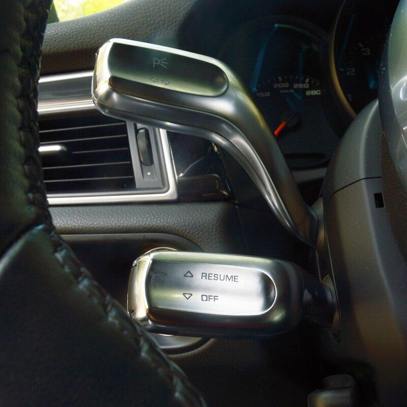 Garniture dautocollant de tige de levier dessuie glace de  volant de voiture pour Porsche Macan Cayenne Panamera accessoires  intérieursIntérieur Moulures
