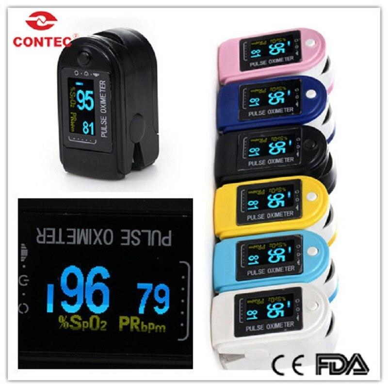 CONTEC SPO2 CMS50D Na Ponta Do Dedo oxímetro de pulso monitor de saturação de oxigênio no sangue Monitor de freqüência de pulso oxímetro de dedo