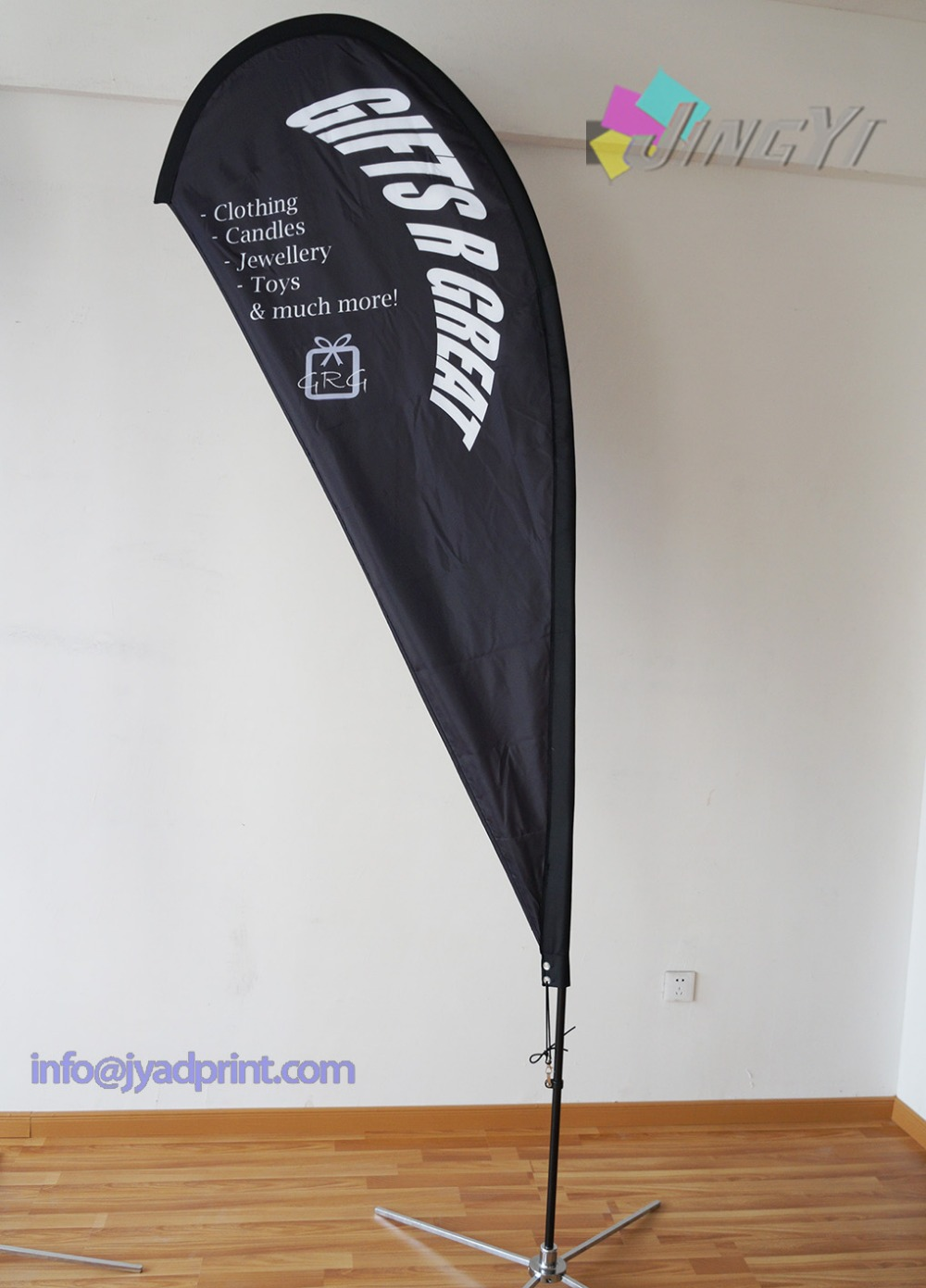Banner banners banner poles outdoor display cheap custom - 2pcs 3m Tall Custom Printing Teardrop Flags And 1p