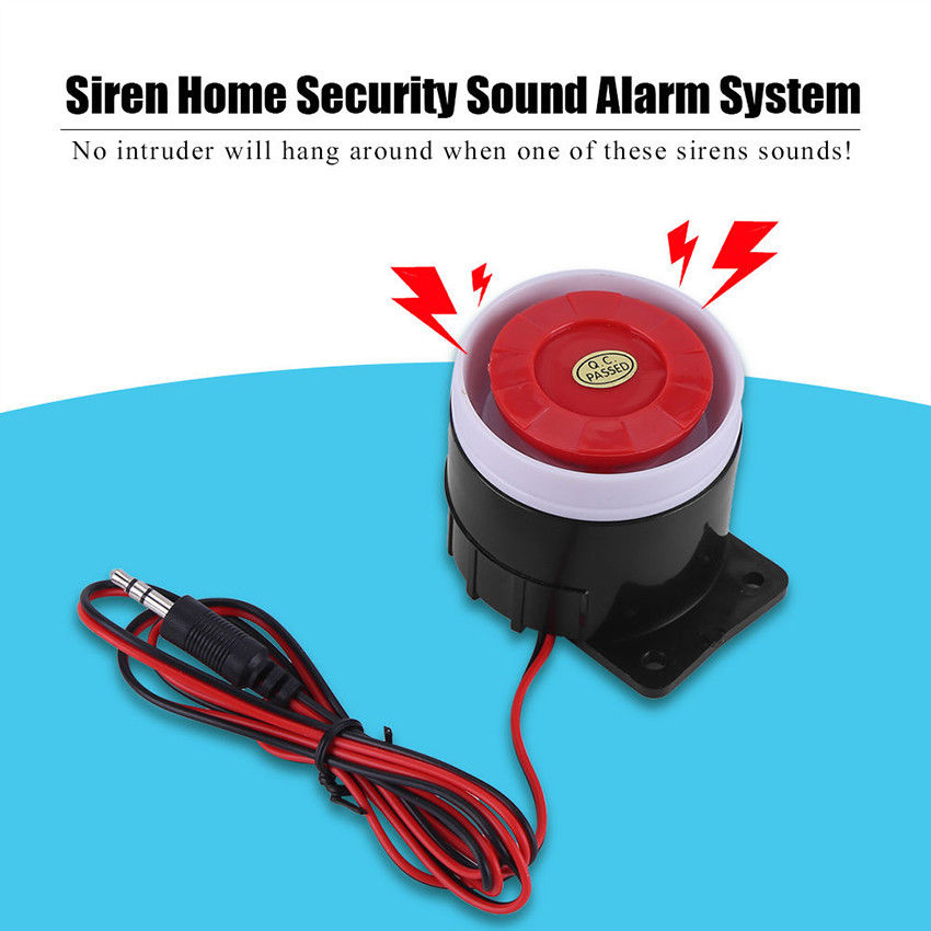 Wired Mini Horn Siren Home Security Alarm System For Home Security 120dB 12V Safe Item
