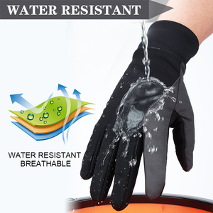 Image 2 - OZERO мужские рабочие перчатки с сенсорным экраном, водительские спортивные зимние уличные теплые ветрозащитные водонепроницаемые перчатки ниже нуля для мужчин и женщин 9002