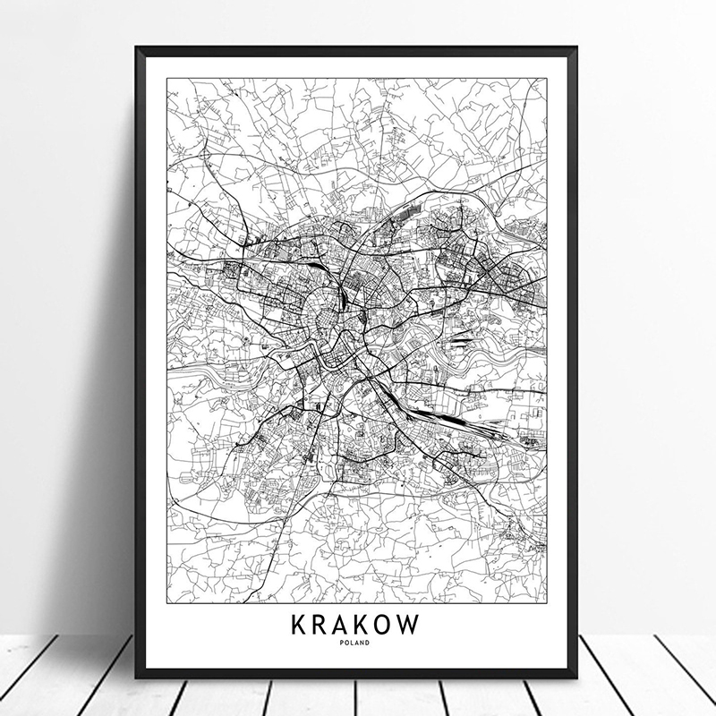 US $9.58 20% OFF|Krakow Black White Custom World City Map Posters Prints on recycling posters, planning posters, city design posters, city mural posters, radio posters, golf posters, vintage city posters, muenchen city posters, train posters, koln city posters, statistics posters, library posters, water posters, clothing posters, vision posters, city neighborhood posters, city travel posters, culture posters, home posters,