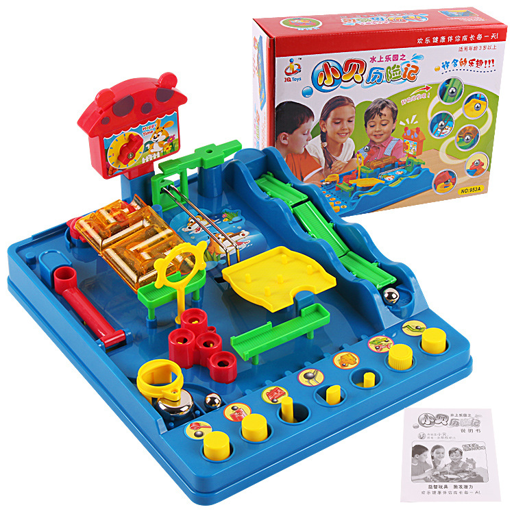 Akitoo1215  Kindergarten Water Park Intellectual Play To The Eight Hurdles Check Mission Maze Children's Educational Toys Gift