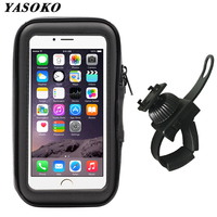 Motorcycle Phone Holder Bicycle Phone Stand Adjustable Support for iPhone Xs Max Bike Waterproof Bag