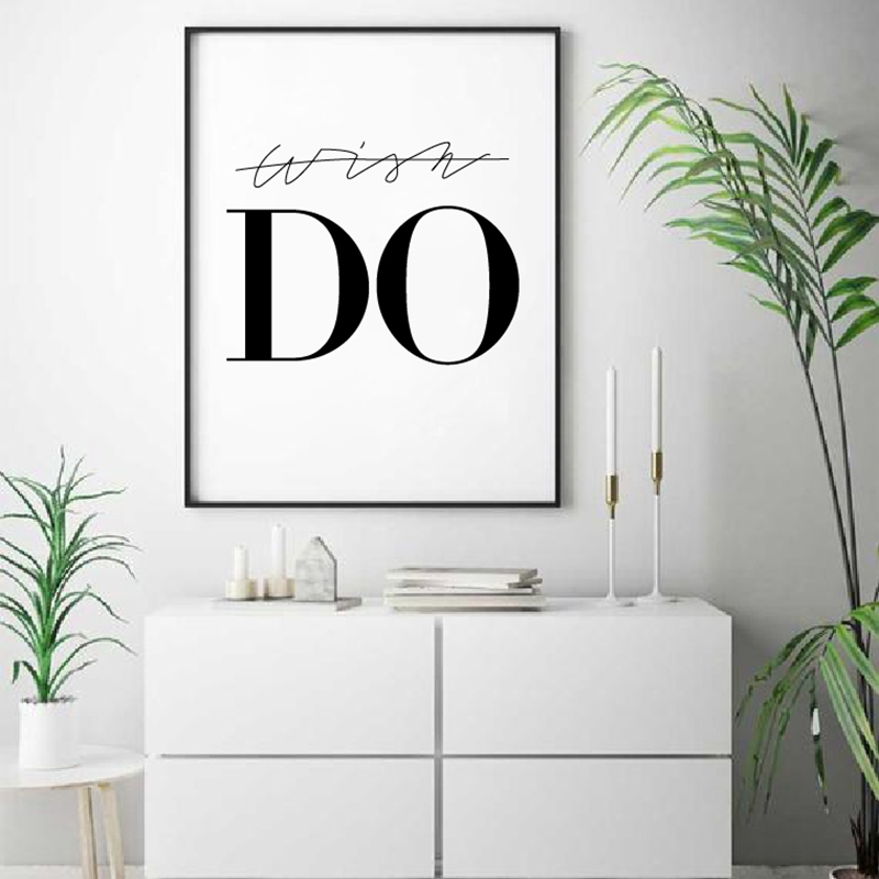 DO Black And White Print