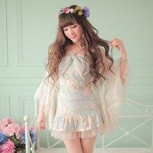 Милое платье принцессы в стиле «лолита»; яркое весеннее платье с открытыми плечами и большим бантом; кружевное платье с тонкими лямками(без кардигана); C16AB6027