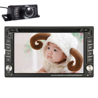 Backup Camera Windows CE 8 6.2'' HD GPS Navigation 2 Din Car Stereo DVD Player In dash Radio Bluetooth USB SD AUX iPod MP3 PC