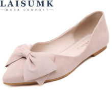 2019 LAISUMK New Women Princess Flats Shoes Leather Platform 1cm Heels Single Casual Free Shipping
