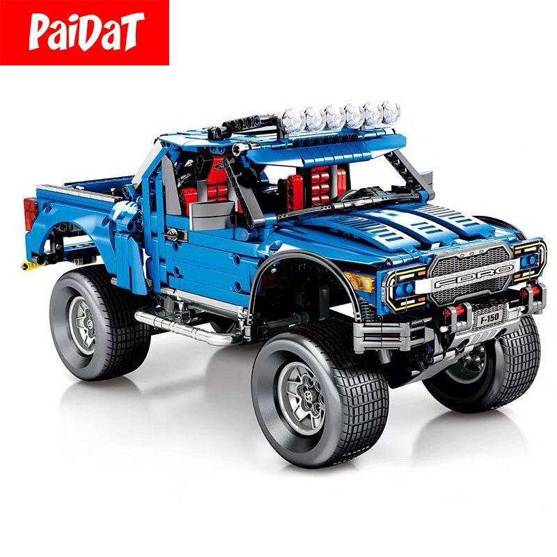 PAIDAT Technic série Ford F-150 Raptor Banz G500 blocs de construction compatibles Legoing 701970 C61016 701960 briques jouets éducatifs