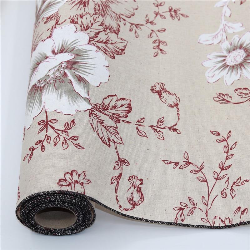Printed Jute Fabric Sack Linen Cloth For DIY Hand Work Tabble Runner Wedding Deco Christmas New Year Decoration 50cm x 400cm