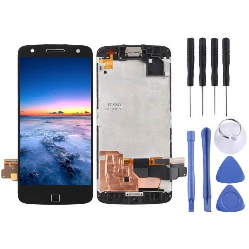LCD Screen and Digitizer Full Assembly with Frame for Motorola Moto Z Force XT1650-02(Black)