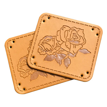 Plecak kwiat skóra ręcznie robione etykiety z różowym Logo na rękawiczki ręcznie robione łaty skórzane na akcesoria do szalików tanie i dobre opinie OPALUS CN (pochodzenie) Przyjazne dla środowiska Nadające się do prania HM0021@#DY Metki główne Znaczki do odzieży