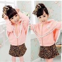 Children Korean Velvet Cloak Suit Jacket Culottes Suit 2 7 Year Old Girl Models Thick Winter