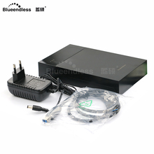 "hdd box 3.5""plastic hard drive enclosure 3.5"" hdd caddy high speed USB 3.0 hard case 3.5 with AC charger plug Blueendless"