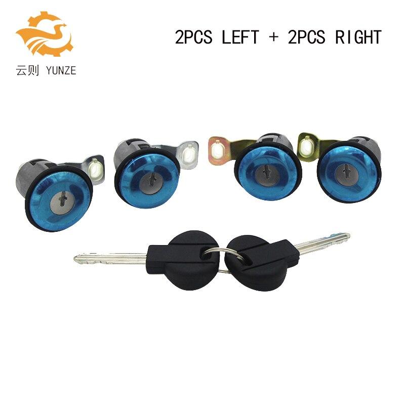 9170G3 252522 LEFT RIGHT DOOR LOCK CYLINDER WITH 2 KEYS FOR CITROEN BERLINGO XSARA PICASSO FOR PEUGEOT PARTNER