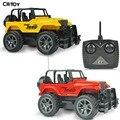 RC Rádio controle Remoto SUV Off Road Jeep 1/24 Velocidade de Deriva roda de Direção do veículo RC Brinquedos veículo Jeep Carro de Brinquedo Amarelo VERMELHO