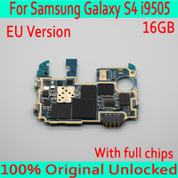 Original unlocked For Samsung Galaxy S4 i9505 Motherboard with Android System,16GB for Galaxy S4 i9505 Mainboard Free Shipping
