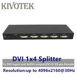 Image 1 - 4 منافذ DVI الخائن ، وصلة مزدوجة DVI D 1X4 الفاصل محول الموزع ، موصل سالب 4096x2160 5VPower ل CCTV كاميرا مراقبة