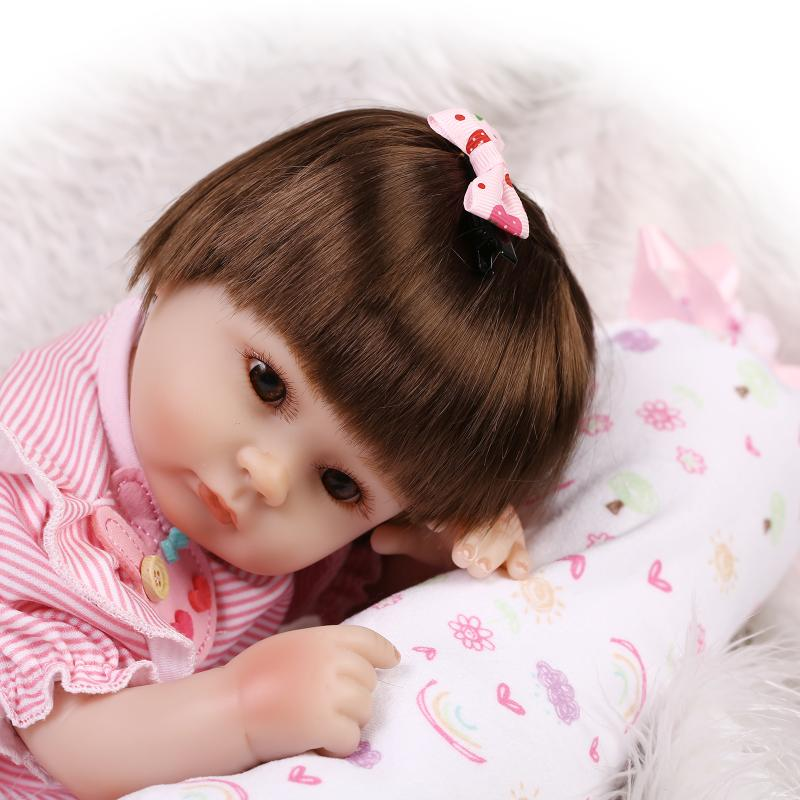 Popular 17inch NPK Baby Dolls With Lovely Clothes And Accessories Handmade Silicone Reborn Baby Dolls As Sweet Educational Model dolls and accessories