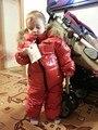 Новый стиль зима детская одежда для девочек мальчиков snowsuit качество роскошный супер мех енота куртка