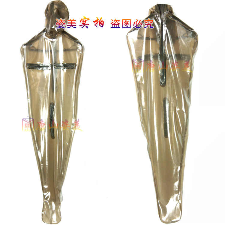 LATEX CATSUIT MEN LATEX UNITARD WITH INFLATABLE BREAST ...