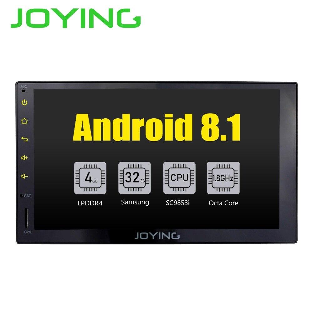 JOYING Octa 8 Core Android 8.1 4GB RAM 7'' 32GB ROM Support WIFI Carplay Car GPS 2 din Universal car Radio HD player head unit