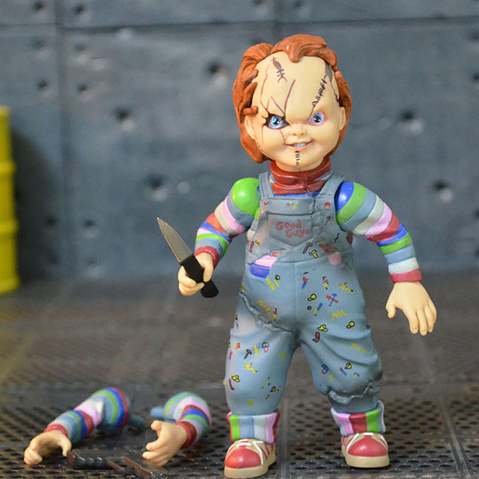 Child's Play Bride of Chucky Horror Doll Chucky PVC Action Figure Toy 12cm