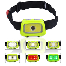 PANYUE Mini COB LED Headlamp 7 Modes Waterproof Headlight Head Flashlight Torch Lanterna For Outdoor Camping Night Fishing