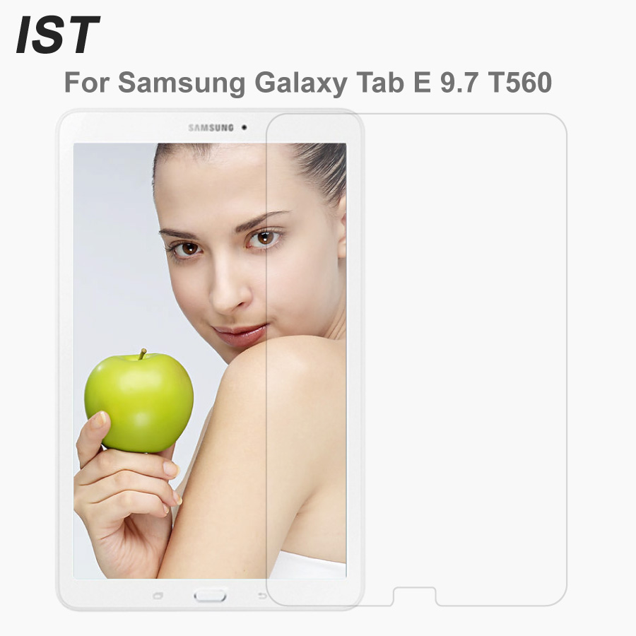 IST T560 T561 0.3mm 9H Screen Protector Tempered Glass For Samsung Galaxy Tab E 9.7 SM-T560 T560 SM-T561 T561 Premium Glass Film чехол для samsung galaxy tab e 9 6 sm t561 sm t560 g case executive синий темный
