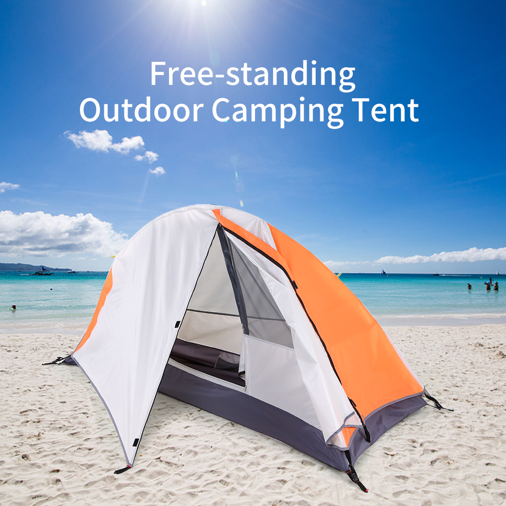 Camping autoportant randonnée escalade tente de couchage abri de soleil détachable cabine unique étanche tente de couchage extérieure
