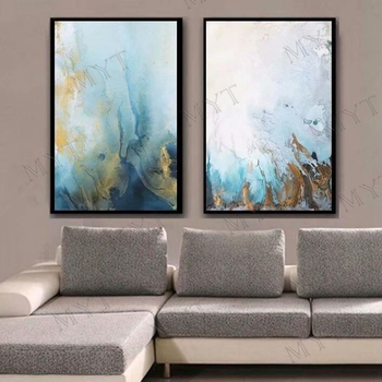 MYT 2 Pieces 1 Set Oil Painting Artist Hand-painted High Quality Abstract Abstrac Oil Painting for Living Room Decor Wall Art