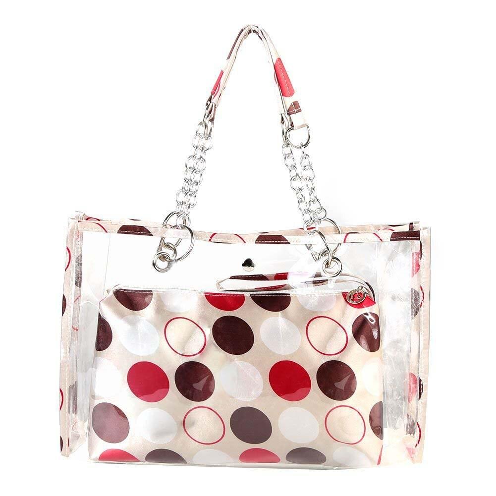 Transparent Beach Bag Fashion Swimwear Wallet Shoulder Bags Casual Work Bag for Women