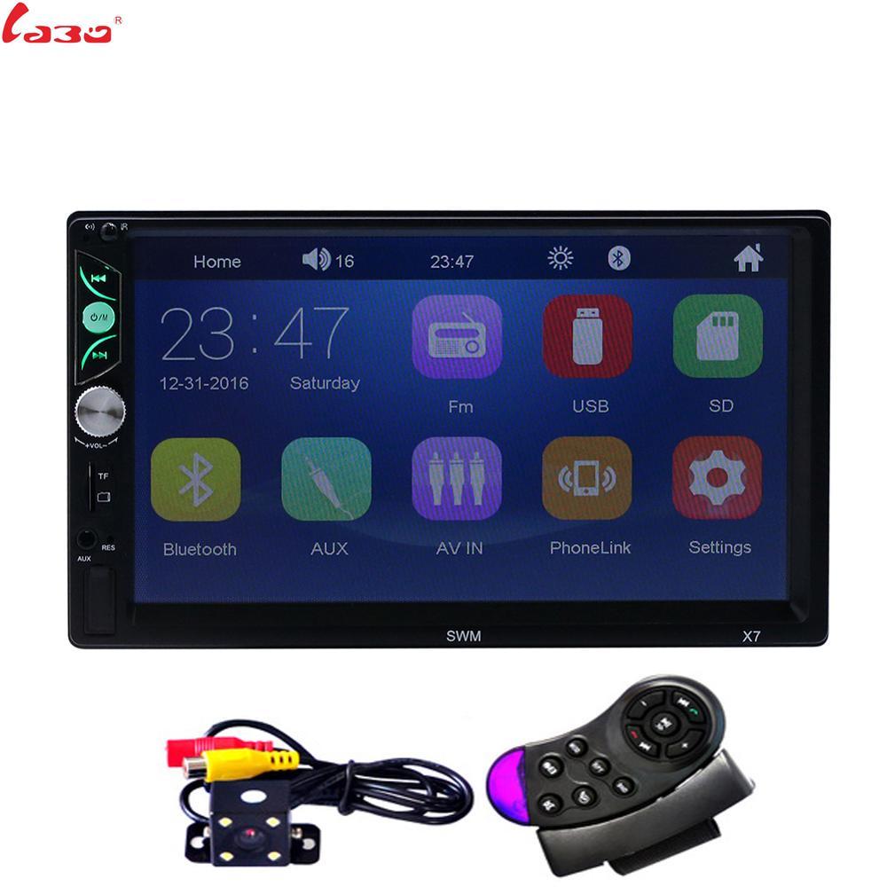 Ligação espelho Android 7.0 ''7 2 rádio do carro um din autoradio Multimedia Player Bluetooth handsfree FM/TF/USB câmera de visão traseira do Carro de Rádio