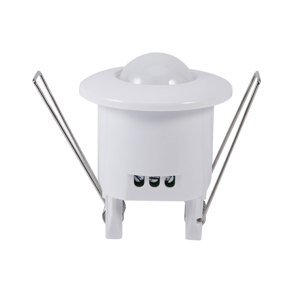 Mini Infrared Motion Sensor Switch 360 Degree PIR Detection Recessed Ceiling Occupancy Motion Sensor Detector Lamp Light Switch