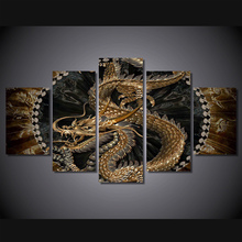 Фотография 5 Pieces/set Dragon Printed Painting on Canvas Print Room Decor Print Poster Picture Painting Frameless